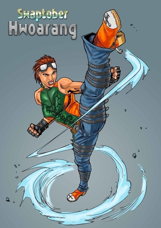 Hwoarang Fan Art - illustration - woody-2265 | ello