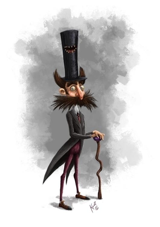 Mustache - digitalart, characterdesign - kamiqueiroz | ello