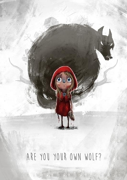 Red wolf - littleredridinghood, bigbadwolf - kamiqueiroz | ello