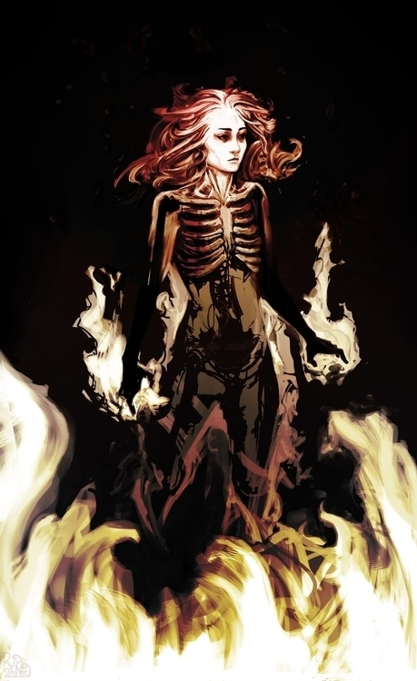 gonna burn alive - skeleton, immolation - rynnic | ello