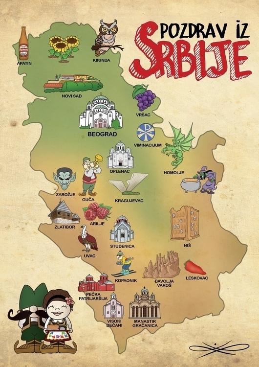 Serbia postcard - luka-7787 | ello