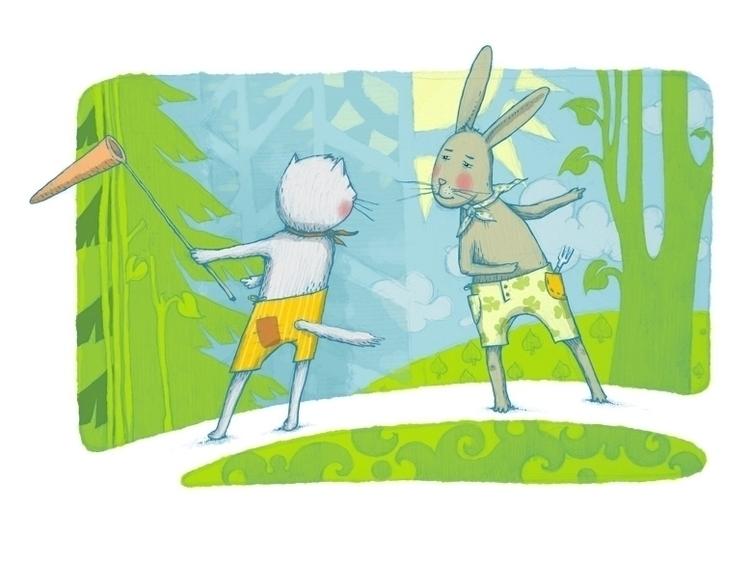 Cat Hare - illustration - vk050 | ello