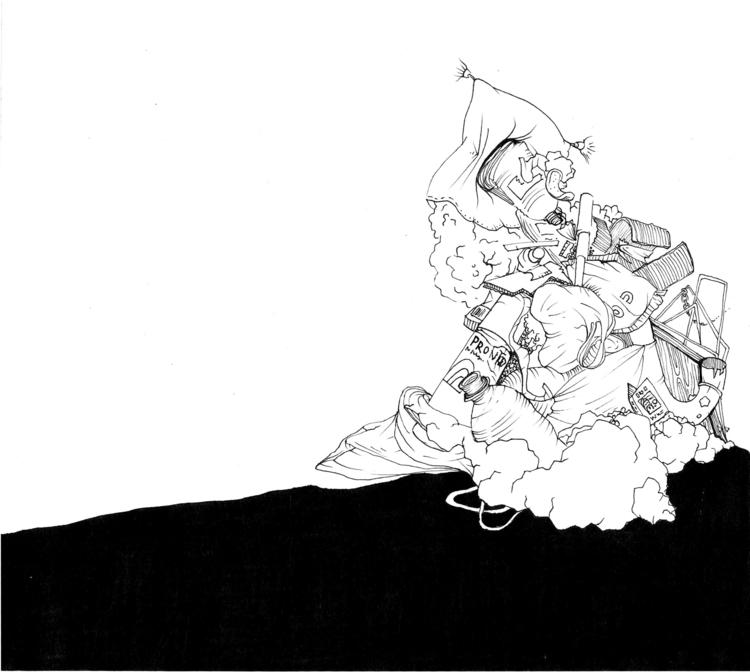 garbage-mountain - illustration - gi-7236 | ello