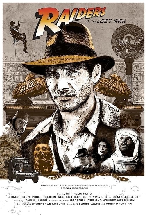 Indiana Jones - illustration - darrenwamboldt | ello