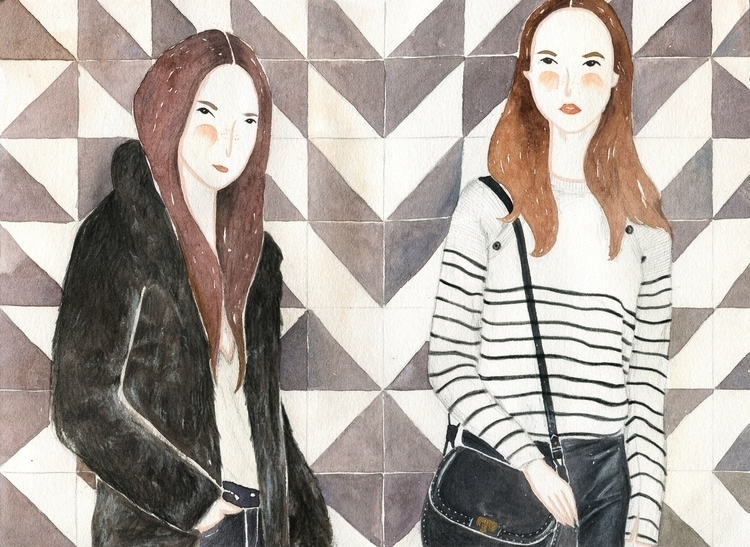 girls (mango apparel - art, drawing - misi-1237 | ello