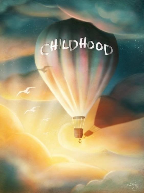Childhood - illustration, painting - cherrygraphics | ello