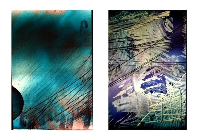 diapositive, glasspainting, diptych - balint-2573 | ello
