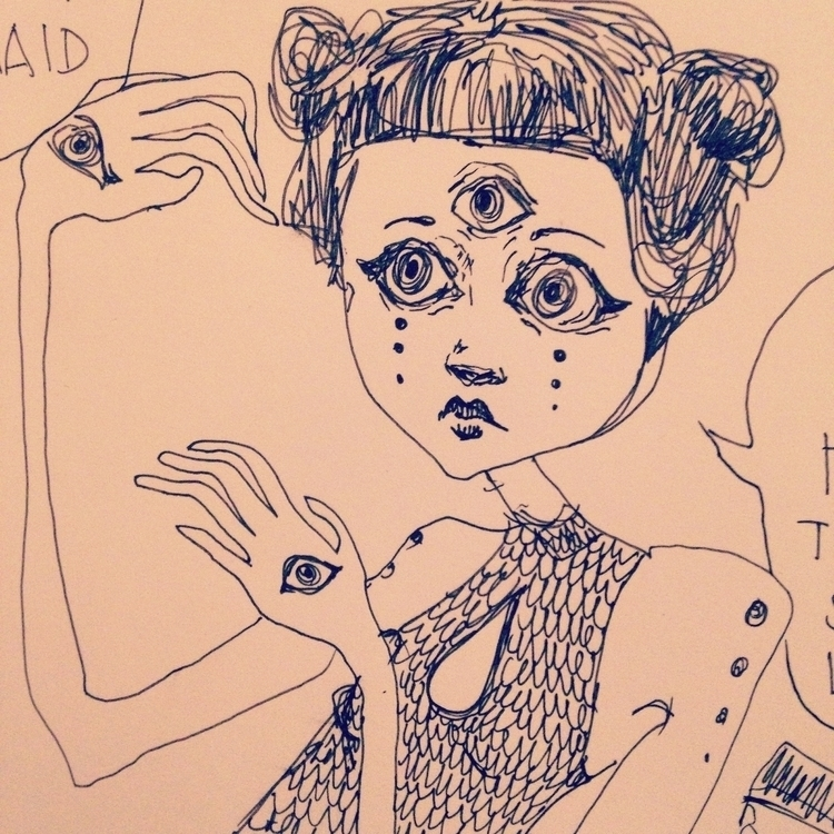 stuck grimes - illustration, ink - sarakdunn | ello