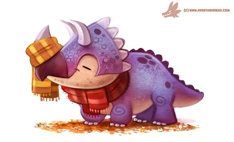 Daily Paint Autumn Dinos - Tric - piperthibodeau | ello