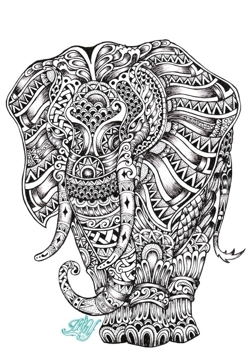 Royal Elephant - illustration, characterdesign - mhydesign | ello