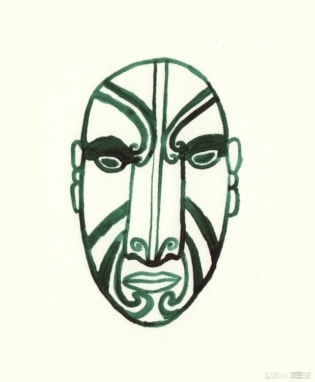masks, maori, mask, newzealand - sarahzeese | ello