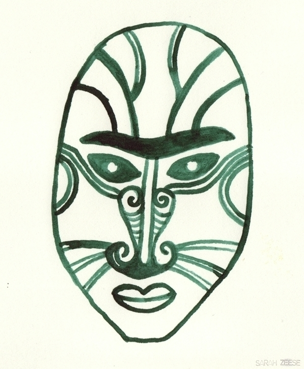 maori, mask, newzealand, character - sarahzeese | ello