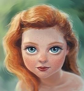 girl, redhair, portrait, character - arisuber | ello