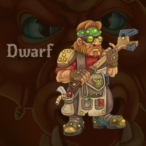 Dwarf - dwarf, gameart, dragon'sdungeon - vadich | ello