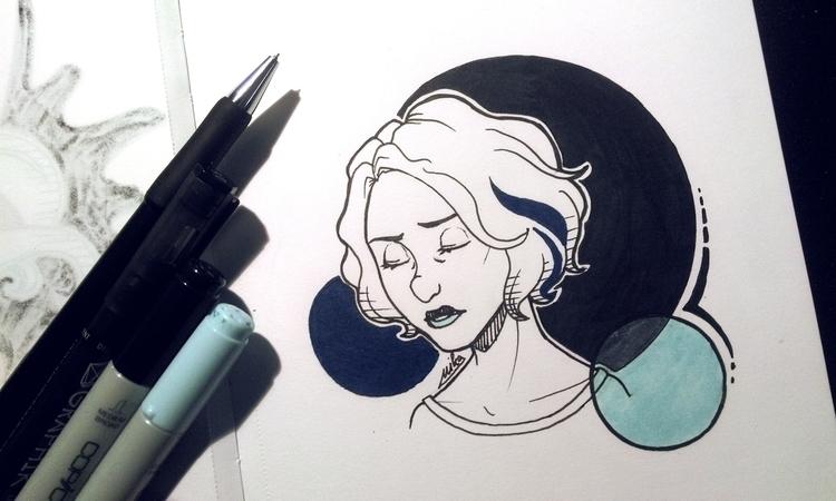 Riley - illustration, traditionalart - ryuutsuart   ello