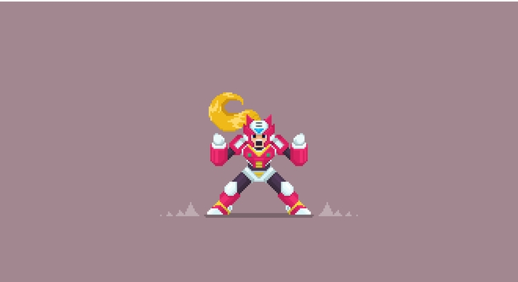 Mega Man  - illustration, characterdesign - planckpixels | ello
