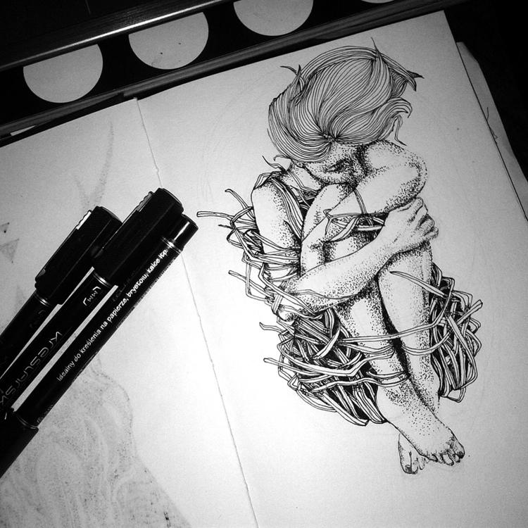 Nest - illustration, drawing - karolina-4327   ello