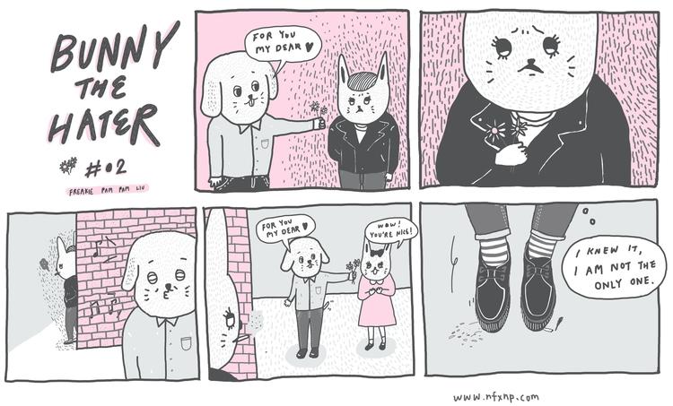 bunnythehater, illustration, comics - pampamliu | ello