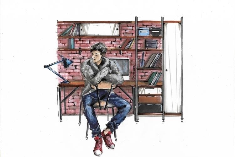 illustration, drawing, furnitureillustration - jdrukker | ello