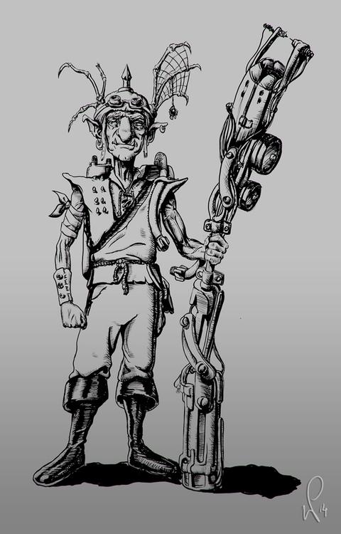 Goblin concept - illustration, animation - pietkaw   ello