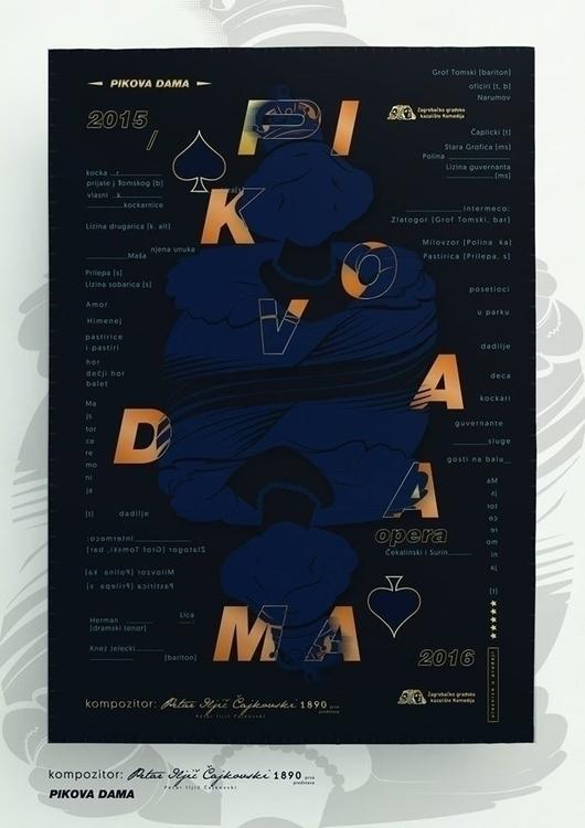 Pikova dama | opera poster - illustration - jovana-1168 | ello