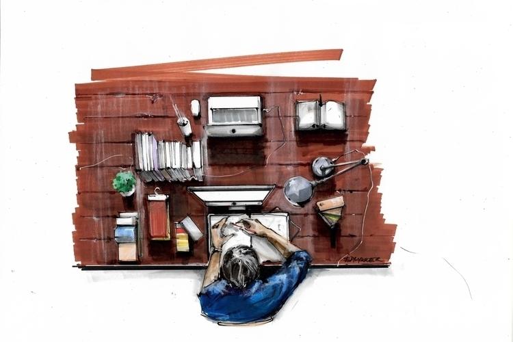 illustration, painting, drawing - jdrukker | ello