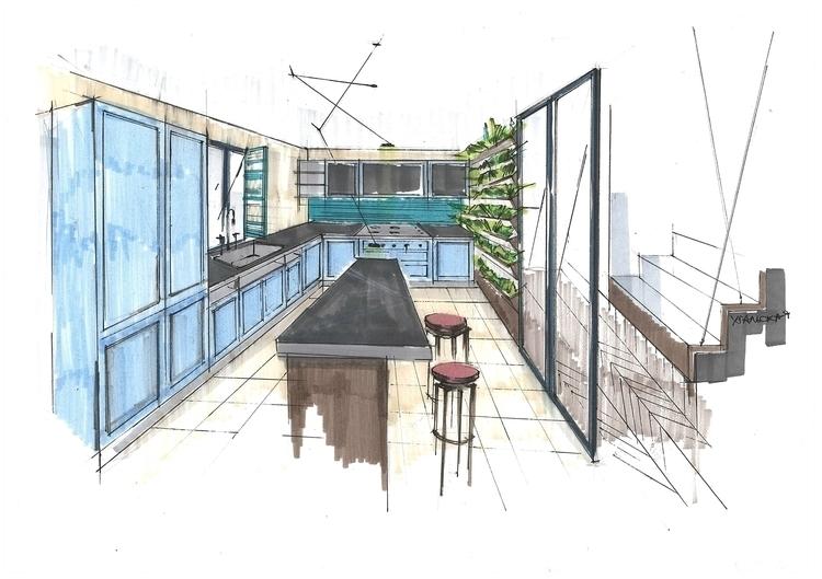 sketch, markers, design, interior - jdrukker   ello