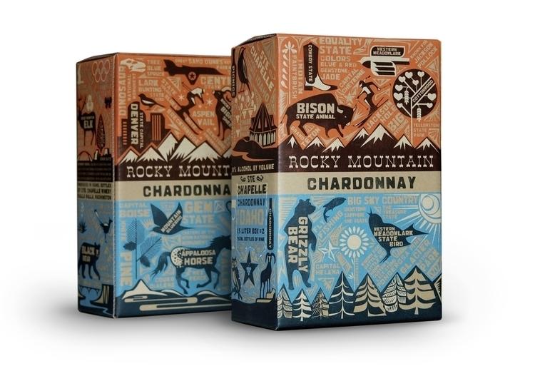 Box Wine Design Illustration - illustration - dbrko | ello