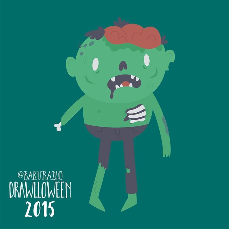 8 - Zombie - drawlloween, zombie - clairestamper | ello