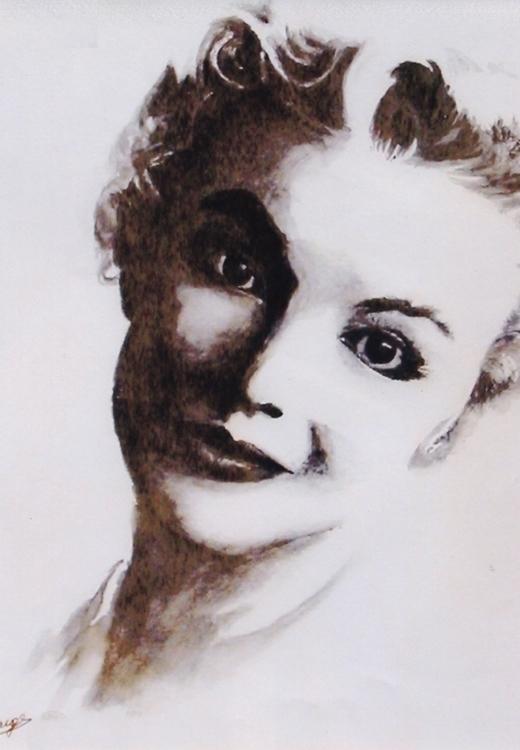 Norma Jeane - watercolor, portrait - egral | ello
