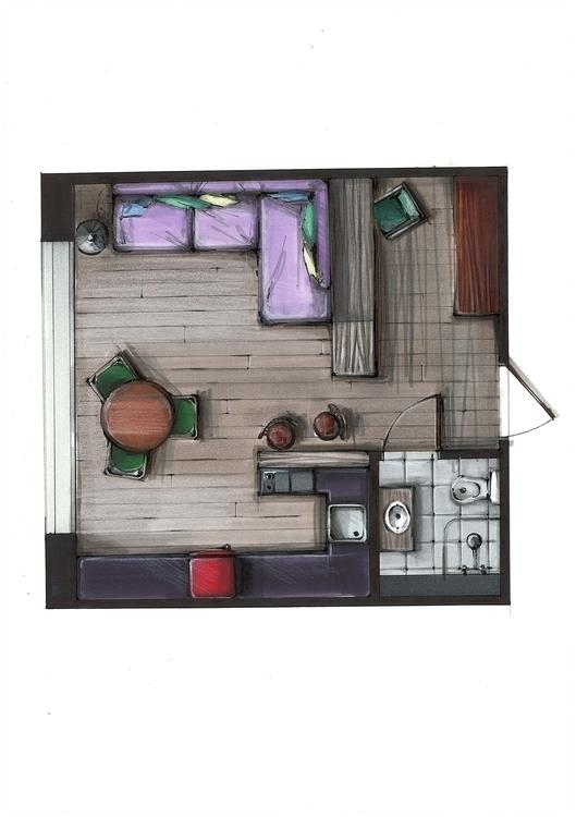 painting, drawing, design, interior - jdrukker | ello