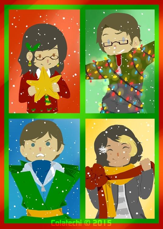 family Christmas Card year, com - colatechi | ello