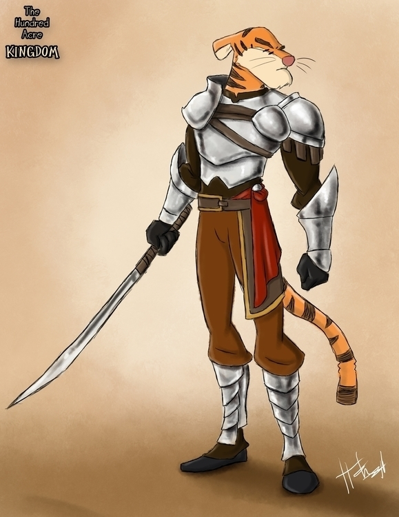 Captain Guard, Tigger - hundredacrekingdom - hasaniwalker   ello