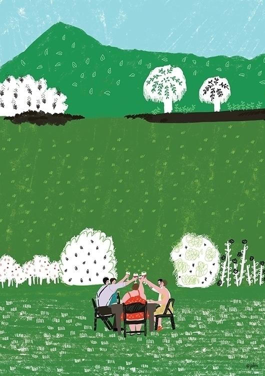 Early Summer - illustration, conceptart - yebin | ello
