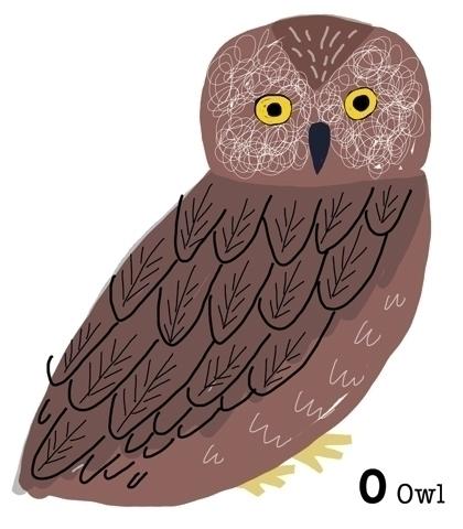 animal alphabet chart - illustration - yebin   ello