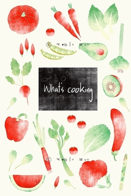 cooking - painting, illustration - yebin | ello