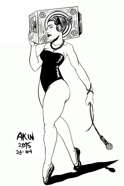 Hiphop Ballerina - illustration - akinwandeayodeji | ello