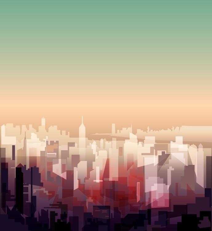 NY. Landscape - illustration, newyork - elfelipe-1370 | ello