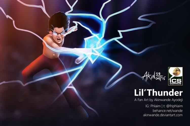 Lil'Thunder IC Studios comic ti - akinwandeayodeji | ello