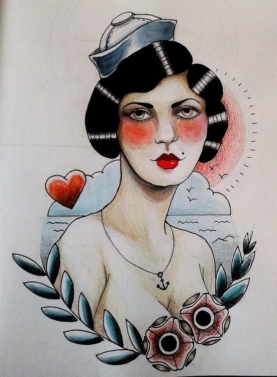 Sea - illustration, #tatoo, drawing - karolina-4327 | ello