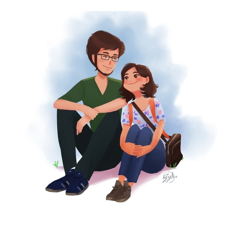 August - illustration, painting - gzel | ello