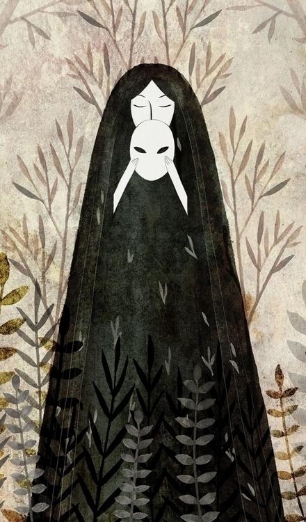 illustration, painting, mask - daottlinh | ello