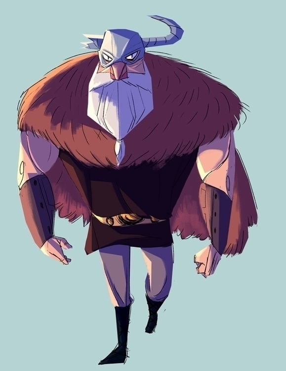 Viking dude - viking, characterdesign - artsypabster | ello