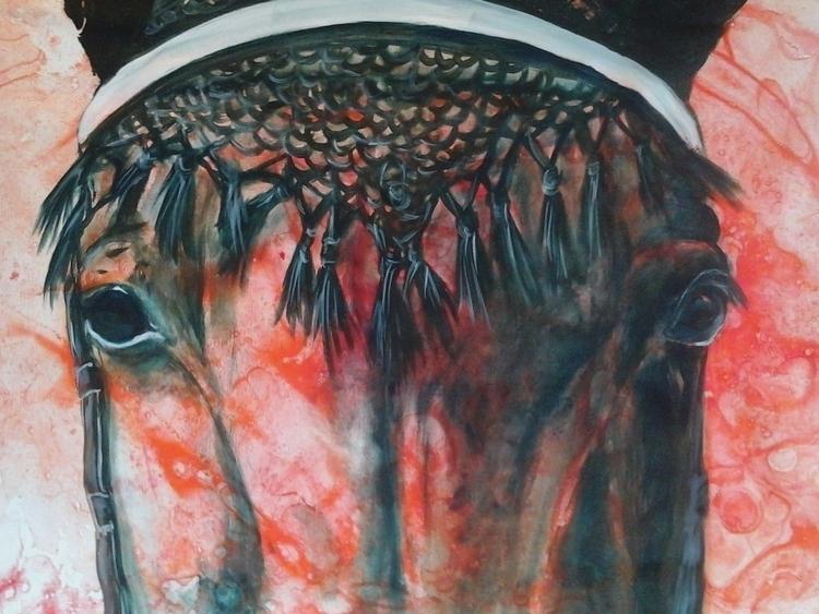painting, horses, colors, expressionism - conniemullerarte | ello