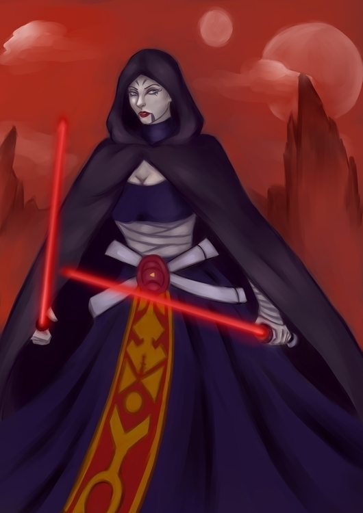 Asajj Ventress - illustration, starwars - maywarheart | ello