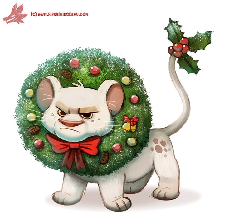 Daily Paint Wreath Lion - 1125. - piperthibodeau | ello
