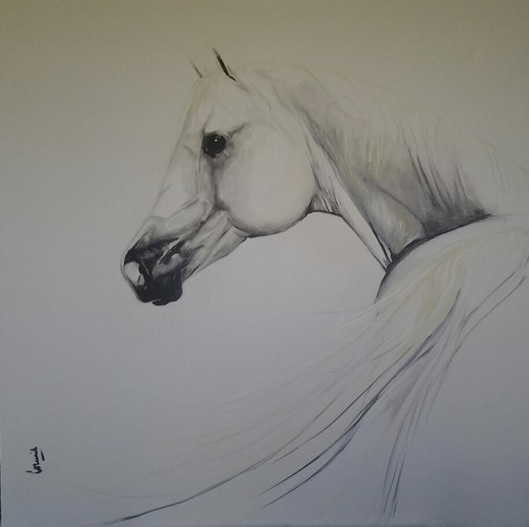painting, horses, classic, arabian - conniemullerarte | ello