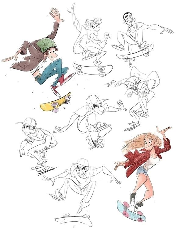 drew skater work week, carried - drawandestroy | ello