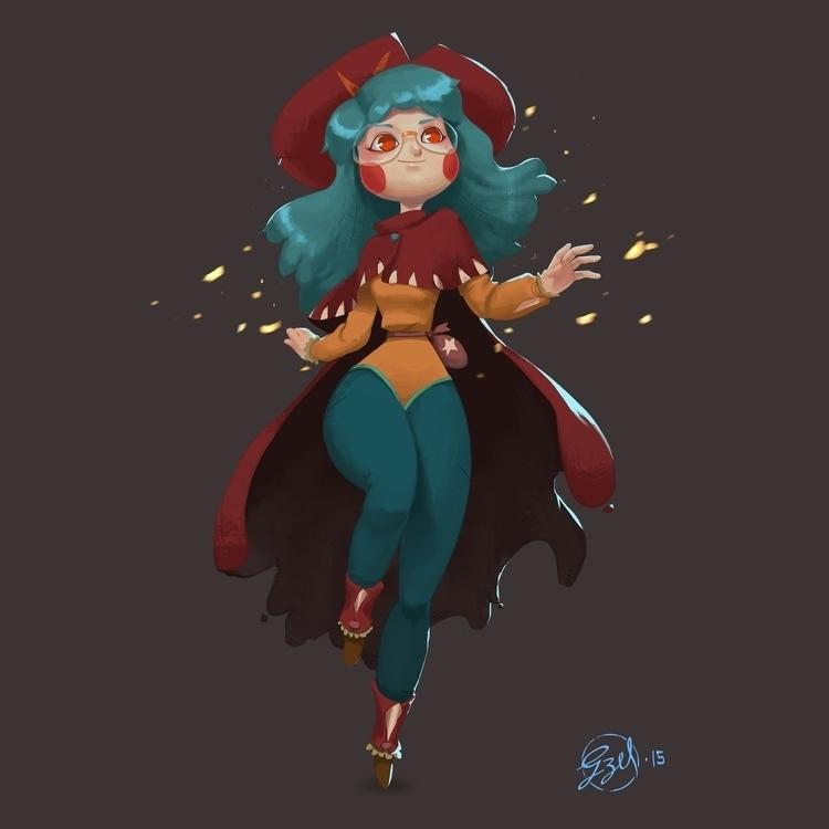 Sybil Mage - illustration, characterdesign - gzel | ello