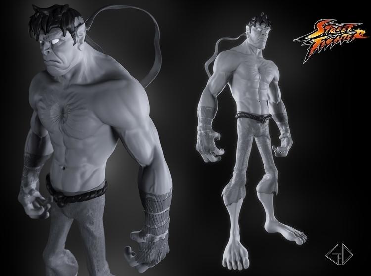 Evil Ryu - characterdesign, 3d - gerardlituanas | ello